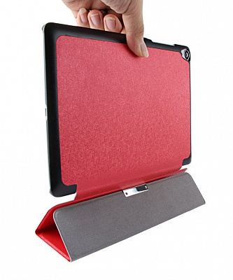 Чехол EGGO Tri-fold Stand Smart Silk Leather Case for HTC Google Nexus 9 (Красный) - ITMag