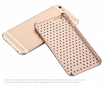 Чехол USAMS Starry Series for iPhone 6/6S Hollow Stars Plastic Hard Case - Gold - ITMag