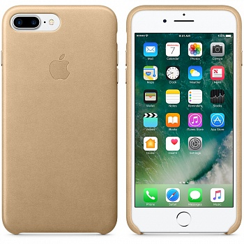 Apple iPhone 7 Plus Leather Case - Tan MMYL2 - ITMag