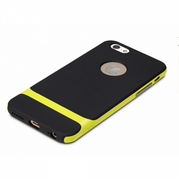 "TPU+PC чехол Rock Royce Series для Apple iPhone 6/6S (4.7"") (Черный / Лайм) - ITMag"