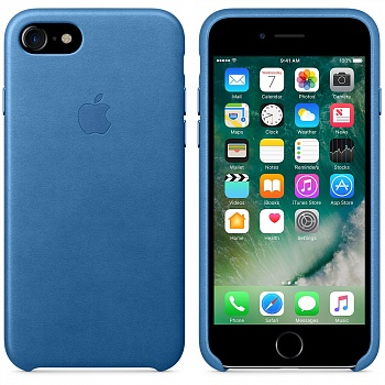 Apple iPhone 7 Leather Case - Sea Blue MMY42 - ITMag