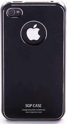 SGP iPhone 4 Case Ultra Thin Pastel Series (Soul Black) + screen protector - ITMag