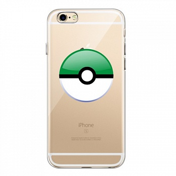 TPU чехол EGGO Pokemon Go Poke Ball для iPhone 6/6S (Green) - ITMag