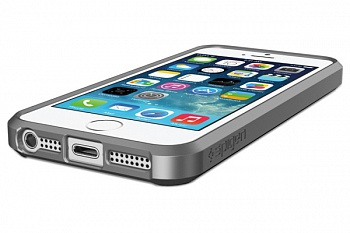 Пластиковая накладка SGP iPhone 5S/5 Case Ultra Hybrid Gray (SGP10518) - ITMag