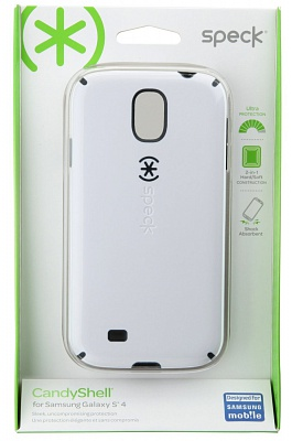 Чехол Speck Products CandyShell Samsung Galaxy S4 Case - White/Charcoal Grey - ITMag