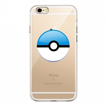 TPU чехол EGGO Pokemon Go Poke Ball для iPhone 6/6S (Blue) - ITMag
