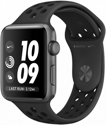 Apple Watch Series 3 Nike+ 42mm GPS Space Gray Aluminum Case with Anthracite/Black Nike Sport Band (MTF42) - ITMag