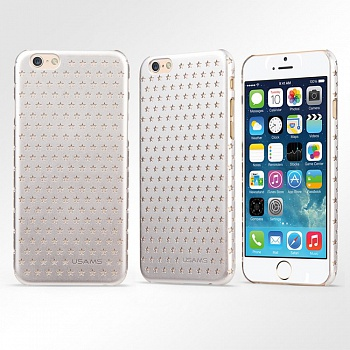 Чехол USAMS Starry Series for iPhone 6/6S Hollow Stars Plastic Hard Case - Silver - ITMag