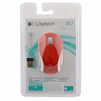 Logitech M187 Wireless Mini Mouse Red - ITMag