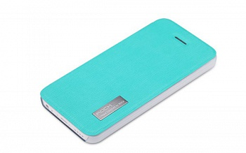 Чехол (книжка) Rock Elegant Series для Apple iPhone 5/5S (Бирюзовый / Azure) - ITMag