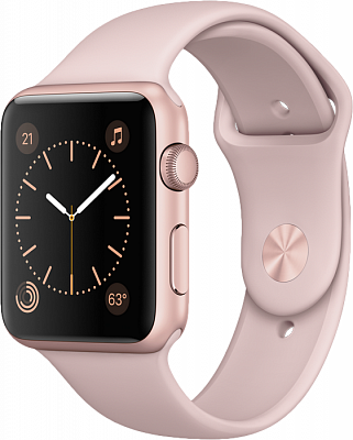 Apple Watch Series 2 42mm Rose Gold Aluminum Case with Pink Sand Sport Band (MQ142) - ITMag