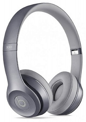Beats by Dr. Dre Solo2 On-Ear Headphones Royal Collection Stone Gray (MHNW2) (Original) - ITMag