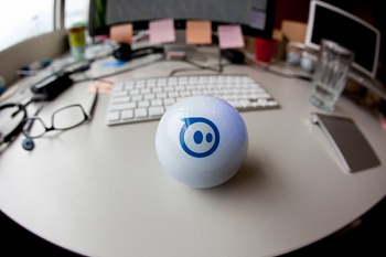 Orbotix Sphero 2.0 App Controlled Robotic Ball - Retail Packaging - White/Blue - ITMag