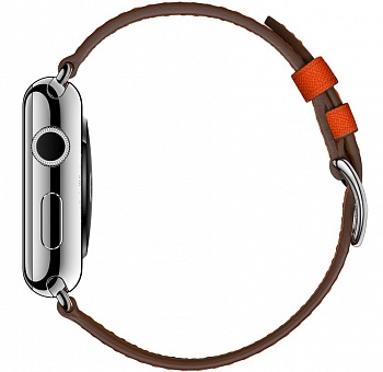 Apple Watch Series 2 Hermes 42mm Stainless Steel Case with Feu Epsom Single Tour Leather Band (MNQ22) - ITMag