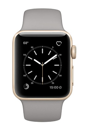 Apple Watch Series 1 38mm Gold Aluminum Case with Concrete Sport Band (MNNJ2) - ITMag