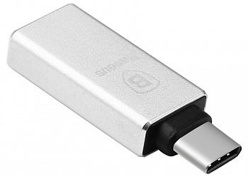 OTG Baseus Sharp Series type-c adapter Silver (CATYPEC-AD0S) - ITMag