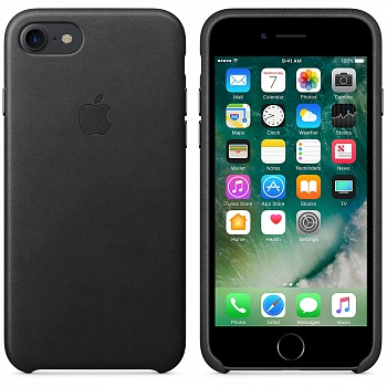 Apple iPhone 7 Leather Case - Black MMY52 - ITMag