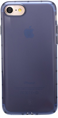 Чехол Baseus Simple  Series Case For iPhone7 (Anti-Shock) Transparent Blue (ARAPIPH7-JZ03) - ITMag