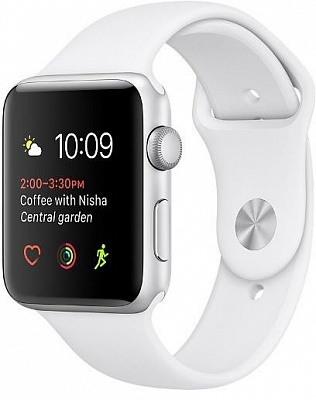 Apple Watch Series 2 38mm Silver Aluminum Case with White Sport Band (MNNW2) - ITMag
