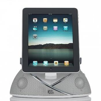 JBL On Beat Loudspeaker Dock for iPad, iPod and iPhone - White  - ITMag