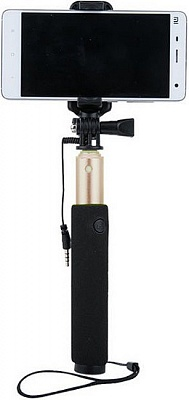 Монопод Remax Selfie stick P5 AUX Mirror Gold - ITMag