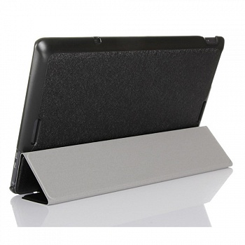 Чехол EGGO Silk Texture Tri-fold Stand Smart Leather Case для ASUS Transformer Book T100 (Черный/Black) - ITMag