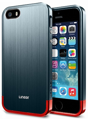 Чехол-накладка SGP Case Linear Blitz Series Metal Slate for iPhone 5/5S (SGP10120) - ITMag