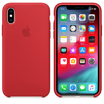 Apple iPhone XS Silicone Case - PRODUCT RED (MRWC2) - ITMag