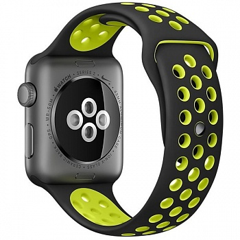 Apple Watch Nike+ 38mm Space Gray Aluminum Case with Black/Volt Nike Sport Band (MP082) - ITMag