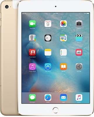 Apple iPad mini 4 Wi-Fi + Cellular 16GB Gold (MK882, MK6Y2) UA UCRF - ITMag