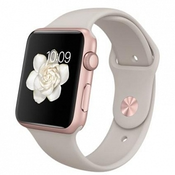 Apple Watch Sport 42mm Rose Gold Aluminum Case with Stone Sport Band (MLC62) - ITMag