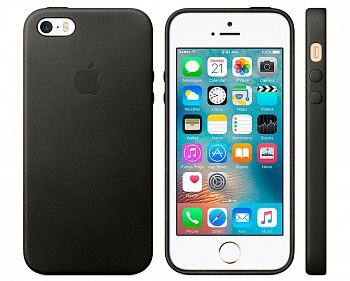 Apple iPhone SE Leather Case - Black (MMHH2) - ITMag