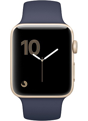 Apple Watch Series 2 42mm Gold Aluminum Case with Midnight Blue Sport Band (MQ152) - ITMag