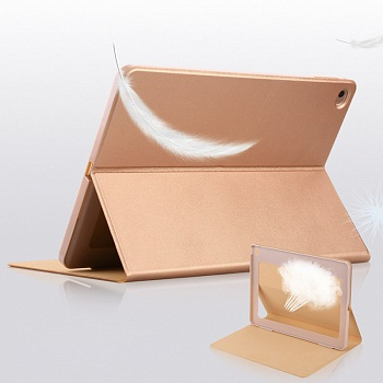 Чехол USAMS Geek Series for iPad Air 2 Magnetic Stand Smart Leather Cover - Gold - ITMag