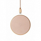 Зарядное устройство Decoded Wireless Fast Charger Leather Pad 10W Gold Metal/Rose (D9WC2GDRE) - ITMag