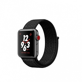 Apple Watch Nike+ Series 3 GPS + Cellular 38mm Space Gray Aluminum w. Black/Pure PlatinumSport L. (MQL82 - ITMag
