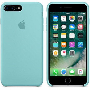 Apple iPhone 7 Plus Silicone Case - Sea Blue MMQY2 - ITMag