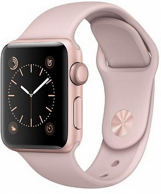 Apple Watch Series 2 38mm Rose Gold Aluminum Case with Pink Sand Sport Band (MNNY2) Open Box - ITMag