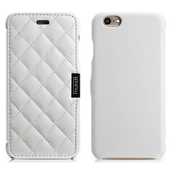 Чехол iCarer для iPhone 6/6S Microfiber Check White Книжка - ITMag