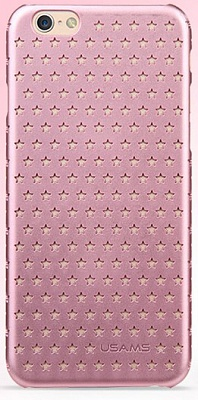Чехол USAMS Starry Series for iPhone 6/6S Hollow Stars Plastic Hard Case - Pink - ITMag