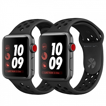 Apple Watch Nike+ Series 3 (GPS + Cellular) 42mm Space Gray Aluminum w. Anthracite/BlackSport B. (MQLD2) - ITMag