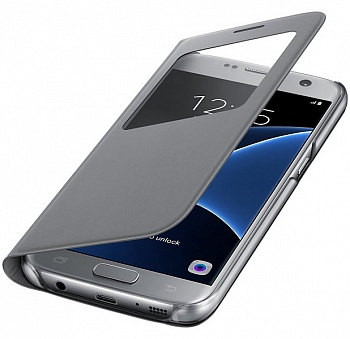 Samsung S View Cover Galaxy S7 Silver (EF-CG930PSEGRU) - ITMag