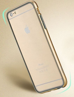 "Бампер ROCK Duplex Slim Guard для Apple iPhone 6 Plus/6S Plus (5.5"") (Золотой / Champagne gold) - ITMag"