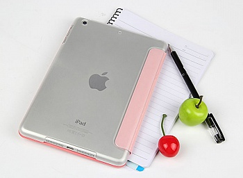 Чехол USAMS Jane Series for iPad Air Tri-fold Stand Smart Leather Case Pink - ITMag