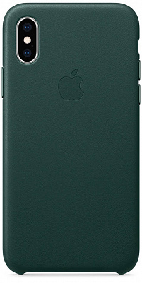 Apple iPhone XS Leather Case - Forest Green (MTER2) - ITMag