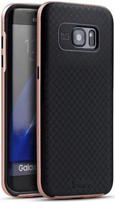 Чехол iPaky TPU+PC для Samsung G935F Galaxy S7 Edge (Rose Gold) - ITMag