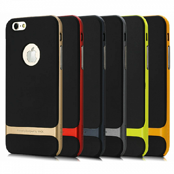 "TPU+PC чехол Rock Royce Series для Apple iPhone 6/6S (4.7"") (Черный / Синий) - ITMag"