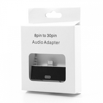 Переходник Lightning to 30-pin Adapter with 3.5mm audio for iPhone 5/5S black  - ITMag