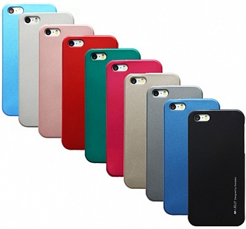 TPU чехол Mercury iJelly Metal series для Apple iPhone 5/5S/SE (Синий) - ITMag