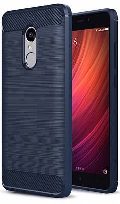 TPU чехол iPaky Slim Series для Xiaomi Redmi Note 4X (Синий) - ITMag